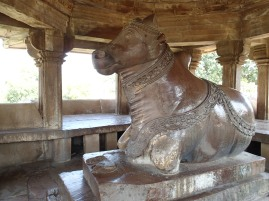 Nandi the bull, Shiva's vehicle.