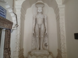 Statue of a tirthankara. There's always a disproportionate amount of penis in Jain temples.