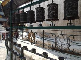 Prayer wheels.