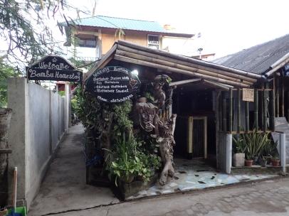 Bambu Homestay, behind Warung Bambu.