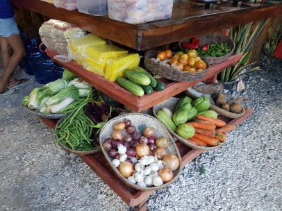 The vegetable selection at Ga-ay. I love this concept. It's like a market where you buy your fresh veg, except you don't have to cook it yourself or wash up or anything.